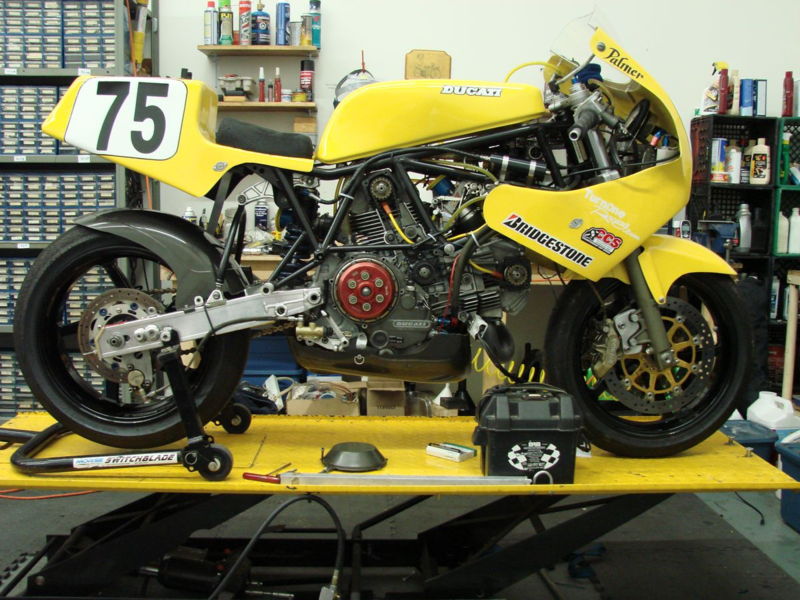 1988 Ducati 750 F1 Yellow Bike