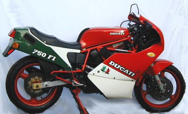 a - 1987 Ducati 750F1 from eBay ad (See text below)